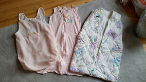 3 girls` sleeping bags –assorted sizes 6 months and up - $12