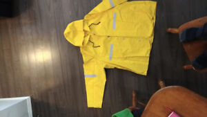 Hi-Vis Breathable Rain Jacket with 3M Film. Worn once. XXL Size