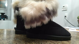 Womens Faux fur ugg type boots