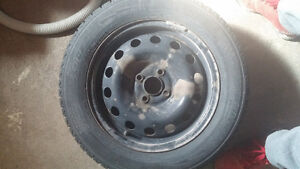 michelin xice 195/60R15 on rims set of 4.  winter tires Cambridge Kitchener Area image 2