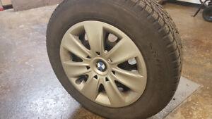 4 pneu d'hiver avec cap BMW