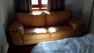 Natuzzi edition brown leather couch