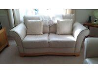 X2 cream two seater Natuzzi Italia leather sofas