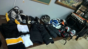 2 sets of junior hockey equipment $200!!!!