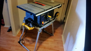 """New Mastercraft 10"""" with folding table stand."""