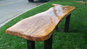 Live Edge Console, End, Coffee, Dining and Boardroom Tables