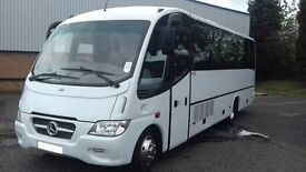 29 SEATER LUXURY MIDI-COACH HIRE WITH DRIVER - CALL 0203 633 4226