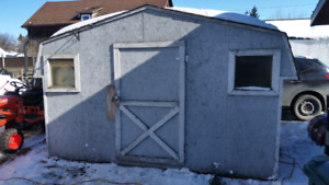 8'x12' used garden shed