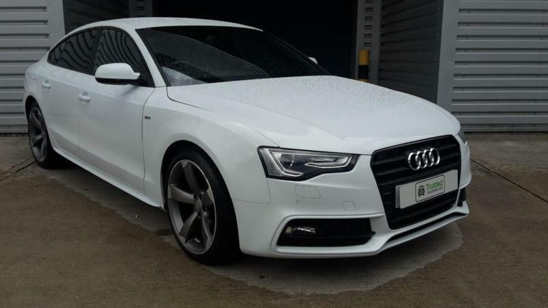 Audi A5 1 8 Tfsi 170ps Sportback 2014 Black Edition 5 Door Manual In White In Irlam