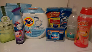 Laundry/Cleaning Bundle Inc Tide Pods, Lysol Wipes, & much more