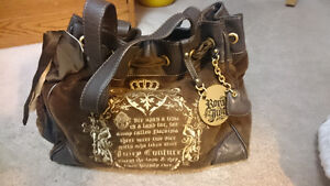 Genuine Juicy Couture Velour and Leather Daydreamer Bag