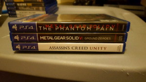 PS4 Games - Metal Gear Solid GZ & V and Assassin's Creed Unity