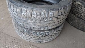 Pair of 2 Nordman WR 215/55R16 WINTER tires (65% tread life)