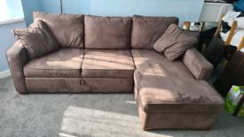 Sofabed corner sofa with storage
