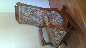 Antique Eastlake Platform Rocker