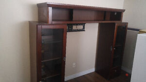 TV Entertainment Center with end caps.