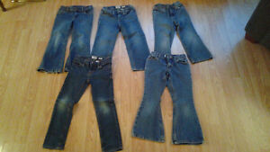 5 pairs of girls jeans - size 5