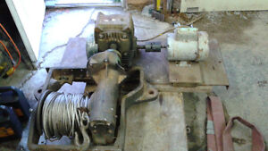 industrial winch with 70-1 reduction box & electric motor