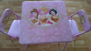 Princess table and chairs and toys
