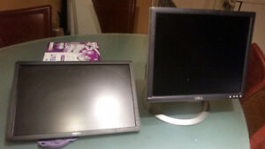 Multiple monitors for sale by in bulk or separate dell and hp
