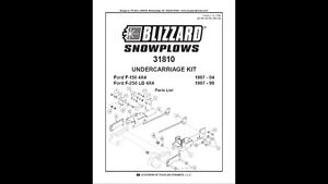 Undercarriage bracket for blizzard 7600Lt snow plow fits Ford F1