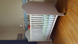 Cute white Crib, change table and rocking chair