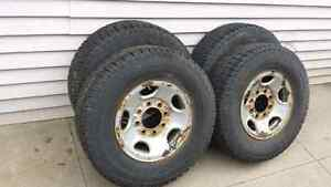 Steel Rims and Tires off of GMC
