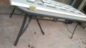 glass table.  In good condition.  perfect for patio or garden