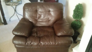 Faux Leather Couch Love Seat & Chair