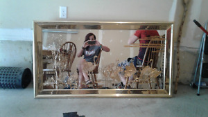 Fine Detailed Gold Engraved Mirror