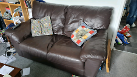 Need gone ASAP 2 Seater Leather Sofa