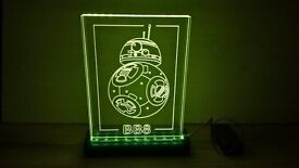 Star Wars led plaque bb8