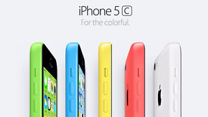 Iphone 5c 8GB Bell/Telus $110 - Unlocked $150