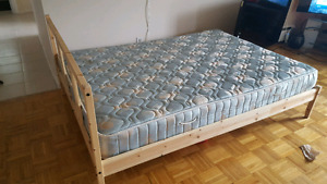 Double bed + Slatted base + mattress