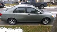 2003 Toyota Corolla with Leather and Sunroof and Low kms