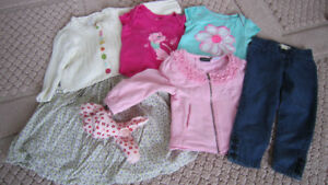 NEW girls jeans pants+2 bodysuits + GYMBOREE set 12-24m