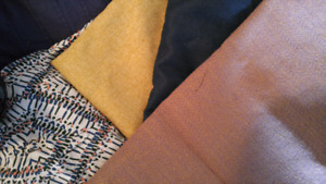 Four cut fabrics - about 1 meter each