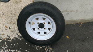 "12""-4 bolt trailer tire with rim (5.30-12)"