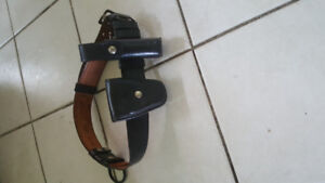 Leather duty belt