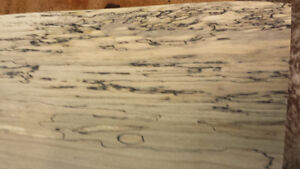 SPALTED LIVE EDGE MAPLE LUMBER KILN DRIED