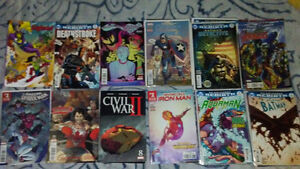 A lot of new comic books - Marvel, DC Rebirth, 2016