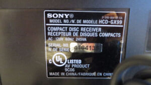 Sony Mini Hi-Fi Stereo system with 3 CD changer MHC-GX99 West Island Greater Montréal image 2