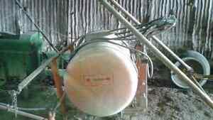 Crop sprayer & small John Deere baler