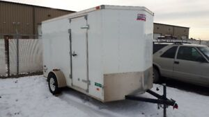 6 x 12 +1' V-nose Enclosed Cargo trailer, like new.