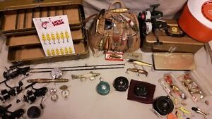 Antique fishing tackle for SALE old reels wooden lures mepps