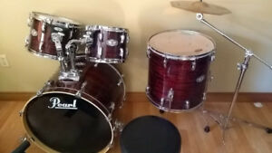 Pearl vision SST Drums, 2 Tom's, floor Tom and kick drum only