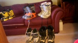 Snowboard Boots, Size 12 $20, sizes 7, 9, 10, $10