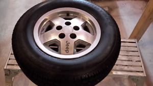 Tires and rims.  215 75 15.