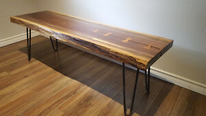 Hand Crafted Live Edge Coffee Table - Walnut