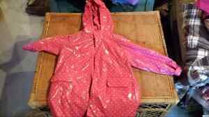 Girls sz3 Rain coat